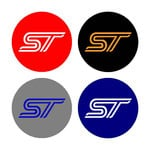 Focus/Fiesta ST Wheel Centre Cap Stickers with backing