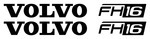 VOLVO FH16 - Truck Wind Deflector Stickers ( pair )