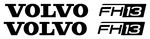 VOLVO FH13 - Truck Wind Deflector Stickers ( pair )