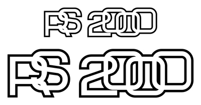 Ford Escort Mk2 RS2000 Boot &/or Rear Quarter Panel Stickers