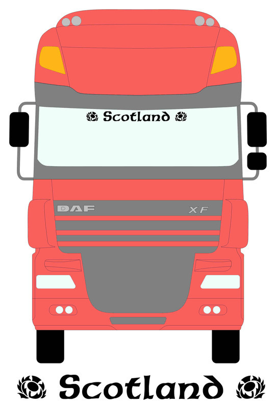 Daf with Scotland Rugby Logo