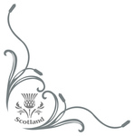 Scotland Thistle Truck Side Window Stickers ( pair )