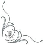 Scotland Thistle Truck Side Window Stickers ( pair )