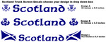 Scotland Truck Screen Stickers.