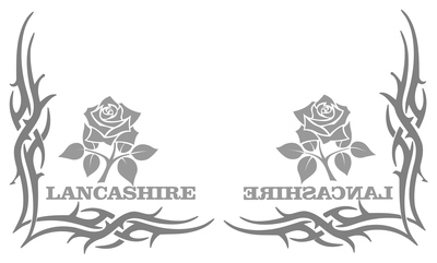 Lancashire Rose Tribal Truck Side Window Stickers ( pair )