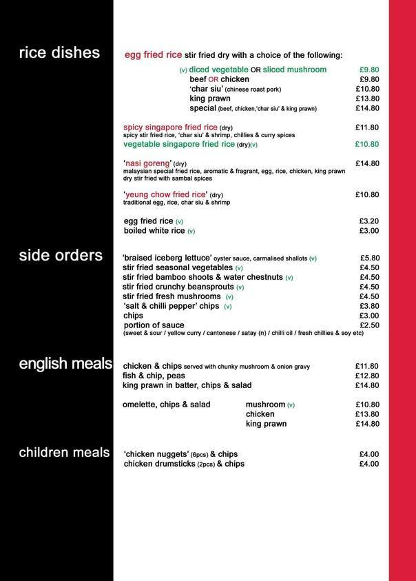 Page 6 A4 Restaurant Menu Rice English 2017