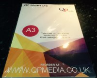 A3 CLEAR GLOSS INKJET SELF ADHESIVE VINYL 120 GSM (120 PACK)