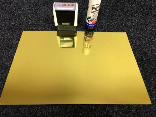 A4 Self Adhesive Printable Mirror Gold Foil sheets  (10 Sheets)
