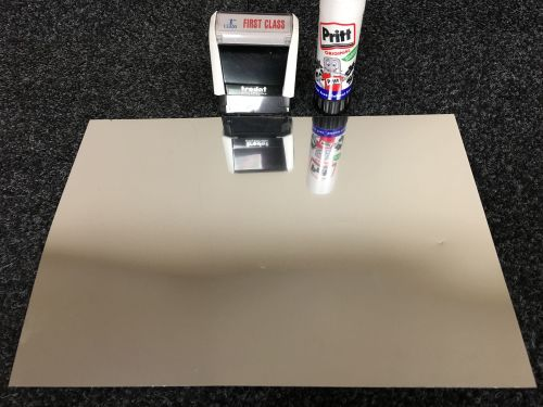 A4 Self Adhesive Printable Mirror Silver Foil sheets  (10 Sheets)