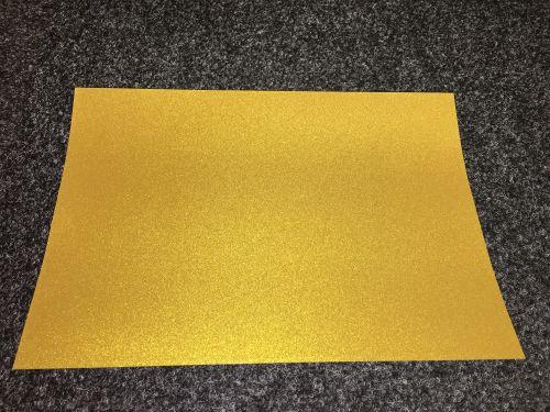 A4 Self Adhesive Printable Glitter Gold Foil sheets  (10 Sheets)