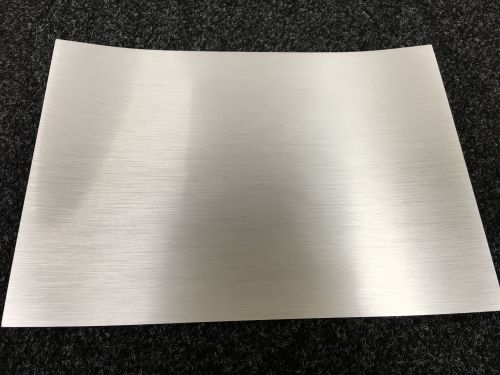 A4 Self Adhesive Printable Brushed Silver Foil sheets  (10 Sheets)