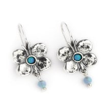 Butterfly Earrings Silver with Opals  - Aviv