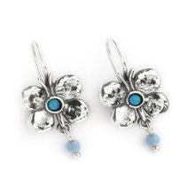 Butterfly Earrings Silver with Opals  - Aviv