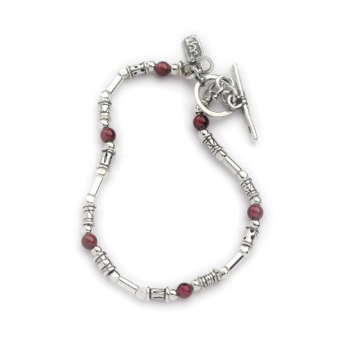 Bracelet Silver with Garnets - Aviv