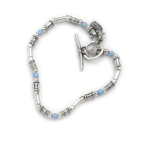 Bracelet Silver with blue opals - Aviv