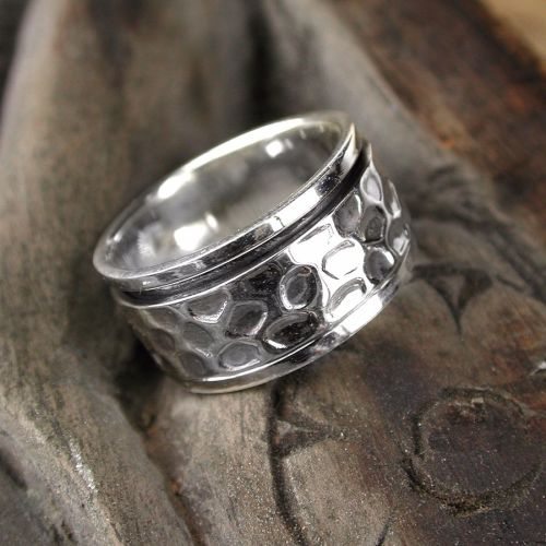 Spinning Ring - Sterling Silver with moving ring - POM (A0026)