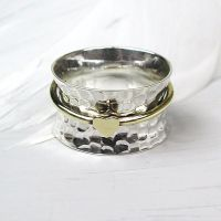 Spinning Ring - Sterling Silver with moving ring - POM (A0027)