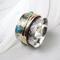 Spinning Ring - Sterling Silver with moving ring - POM (A0028)