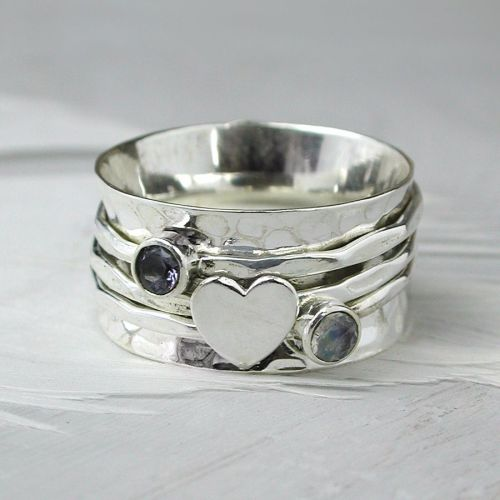 Spinning Ring - Sterling Silver with moving ring - POM (A0031)