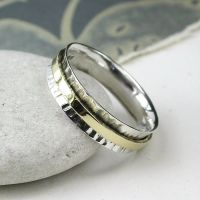 Spinning Ring - Sterling Silver with moving ring - POM (A0033)
