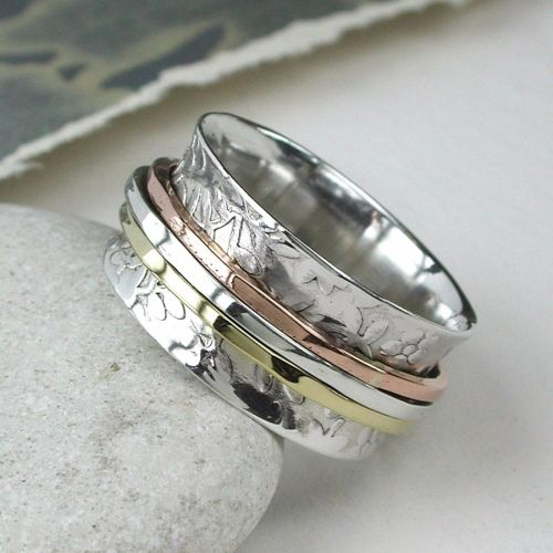 Spinning Ring - Silver with brass & Silver - POM (A0034