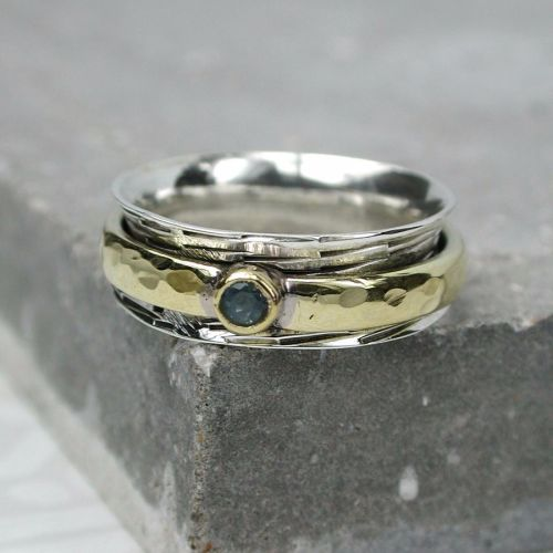 Spinning Ring - Silver with brass & Copper (A0035)