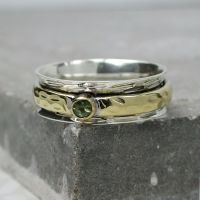 Spinning Ring - Silver with brass & Silver - POM (A0036)