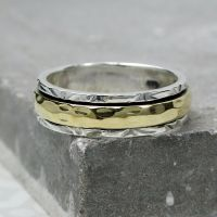 Spinning Ring - Silver with brass & Copper (A0037)