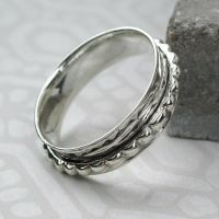 Spinning Ring - Silver with brass & Copper (A0039)
