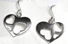 Silver Heart Earrings  - Peace of Mind (PS0200)