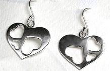 Silver Heart Earrings  - Peace of Mind (PS0200)