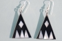 Mexican earrings inlaid with shell  (mex101)