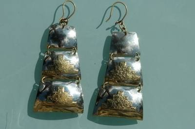 Chilean Brass Earrings CH01