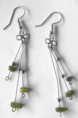 Mexican earrings Silver with Stone (MEX01)