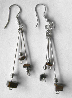 Mexican earrings Silver with Stone - MEX02