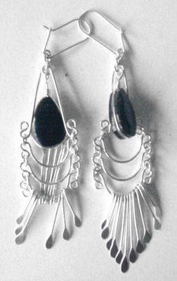 Mexican earrings Silver with Stone -  MEX303
