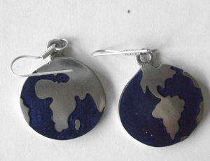 Mexican hand painted Silver Earrings  - MEX05