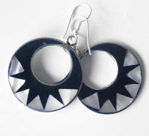 Mexican earrings inlaid with Abalone (mex41)