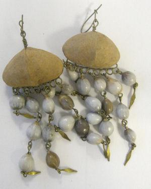 Earrings from Peru - Wild Seed & Brass P11