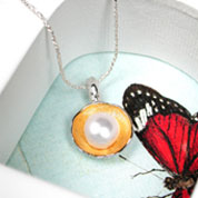 Silver & Gold Necklace with Pearls (G0017)