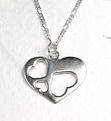 Silver Heart Pendant & Silver Chain  (PS0200A)
