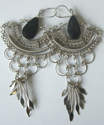 Mexican earrings Silver with Stone -  MEX07