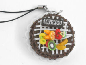 Mobile Phone Pendant I Love You   Fruit Gateau Cake