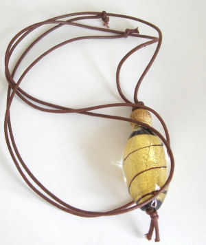 Murano glass pendent Brown Gold (M-Iris-005P)