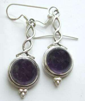 Amethyst silver earrings (AE01)