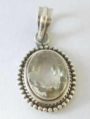Topaz silver Pendant  (TopazP32)