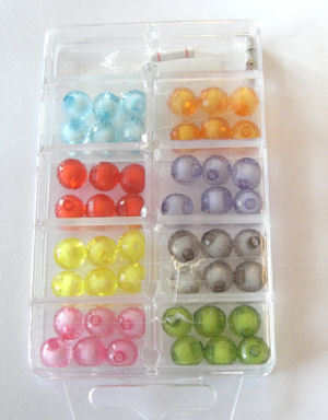 Bead kit for beginners with mixed coloured beads (kit2)