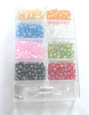 Bead kit with mix of coloured beads & findings(kit3)