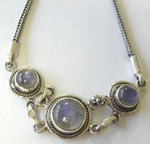 moonstone Silver Chain Bracelet  (MB20)
