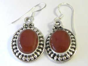 Carnelian Silver Earrings (CAE01)